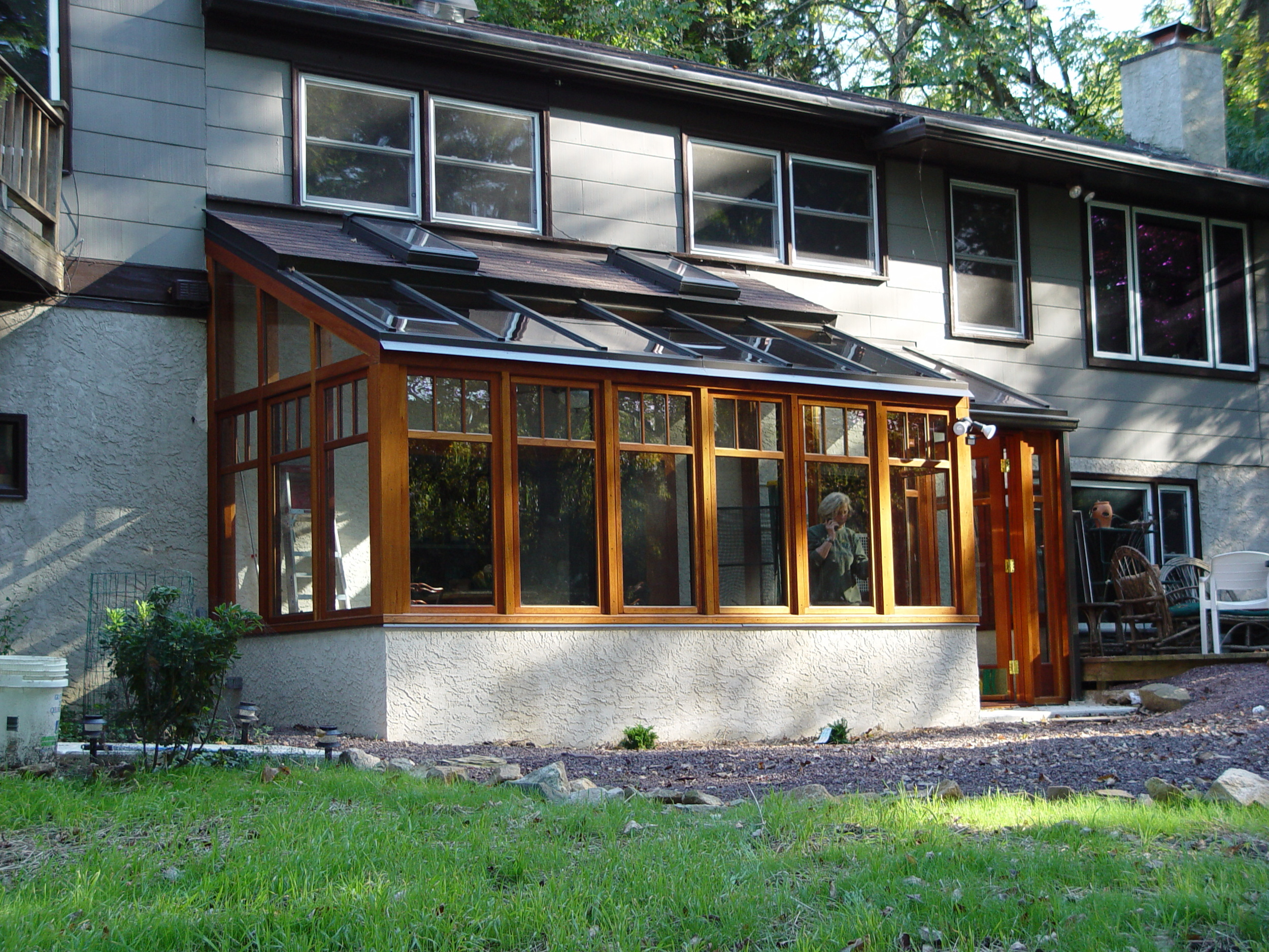 Sunroom / Lean-To Conservatory with Vestibule