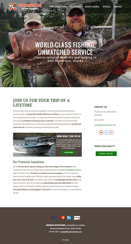 Charter fishing website sample 1