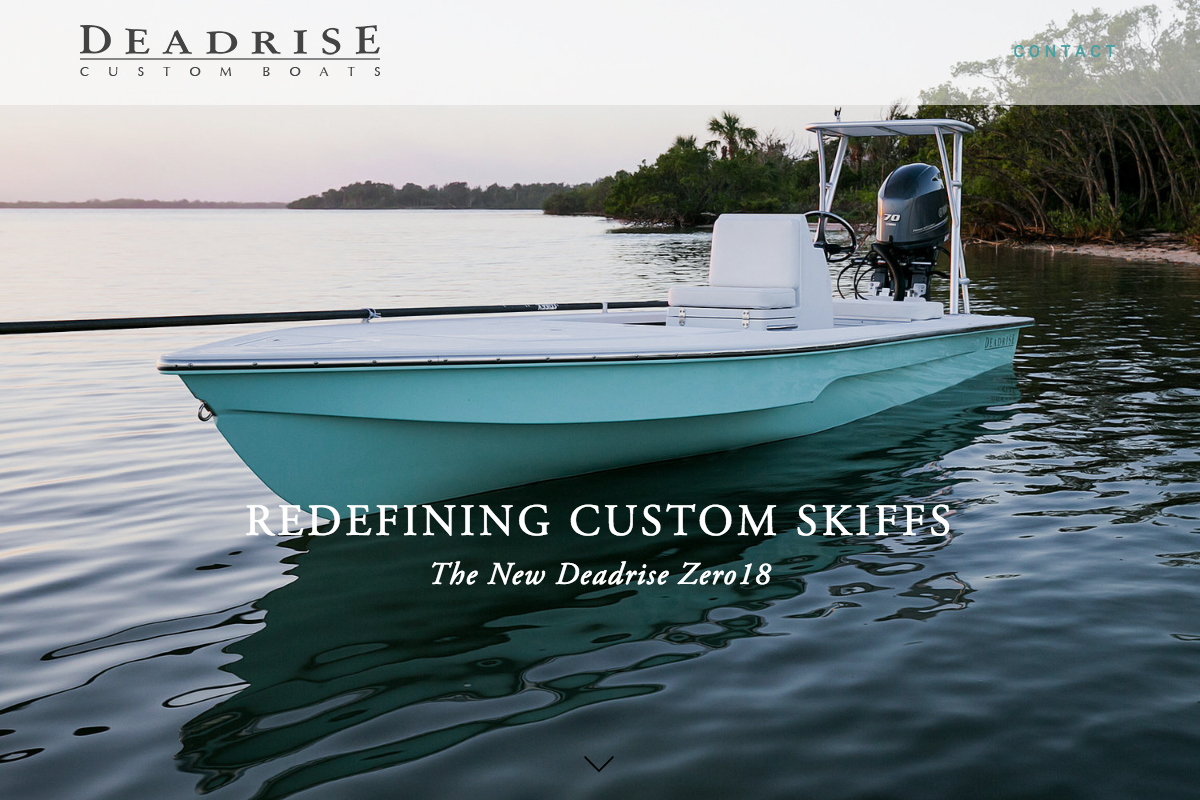 Boat builder skiff web design and photography sample 2