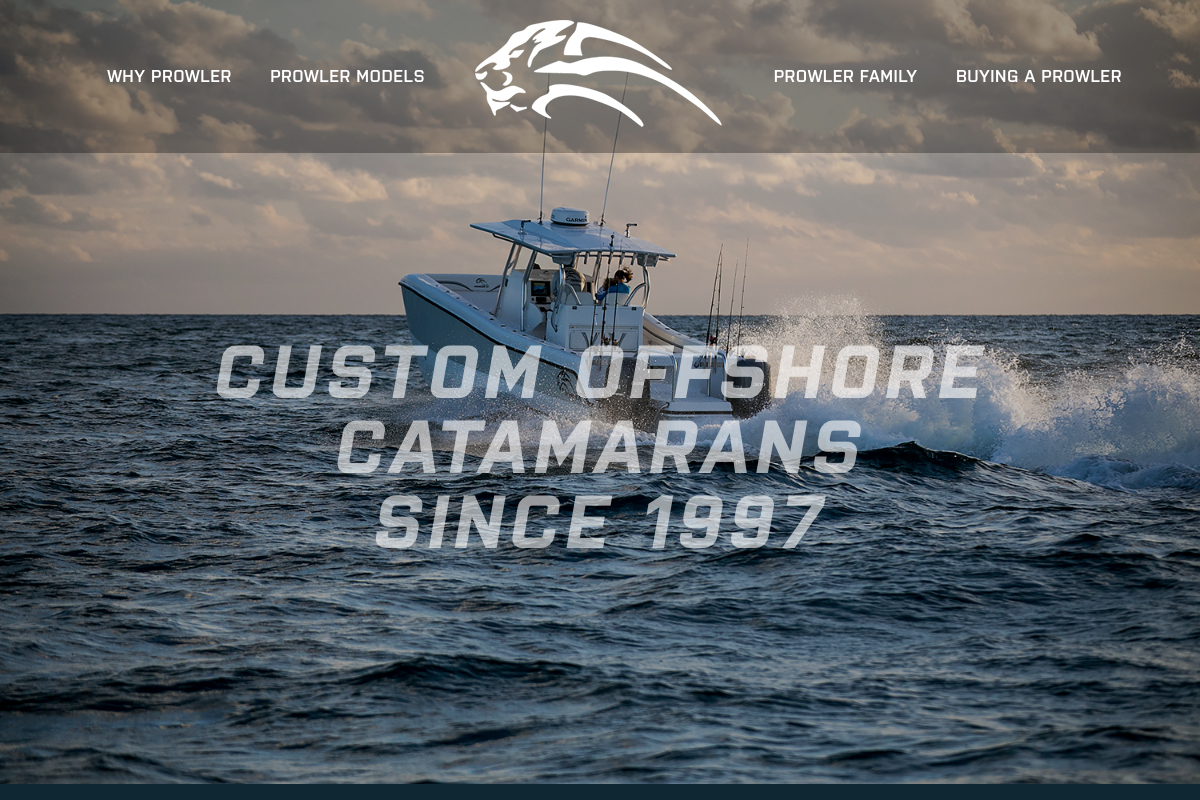 Fishing boat builder website and photography sample 1