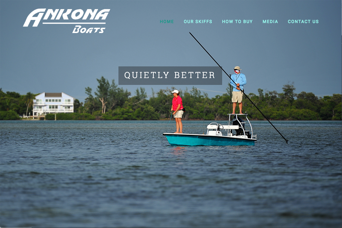 Boat builder web design sample 2
