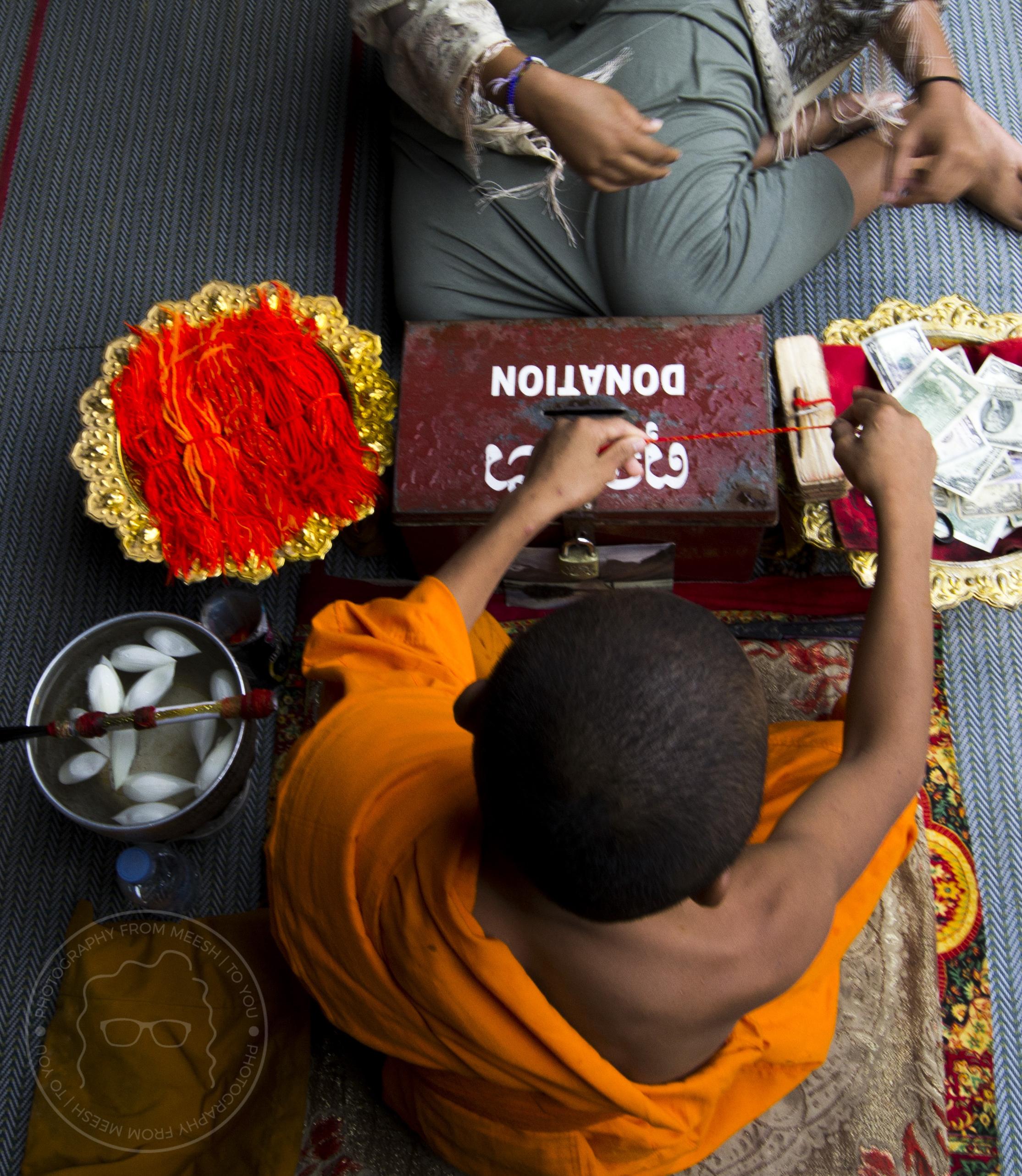 Monk Blessing at Angkor Wat | Siem Reap, Cambodia | 2017