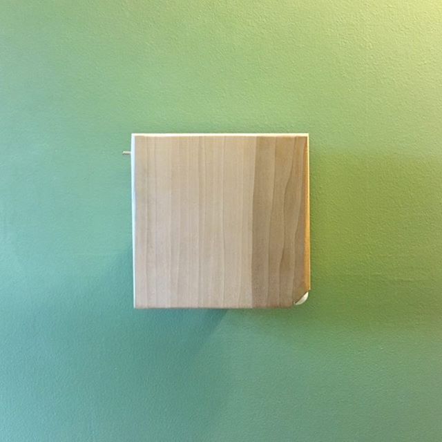 Revisiting a commission to adapt our piece 'Outdoor Inhouse' to a home bathroom form factor.  A motion detector activates a recording of local wildlife, sound exciter and electronics incased in a routed-out piece of poplar.