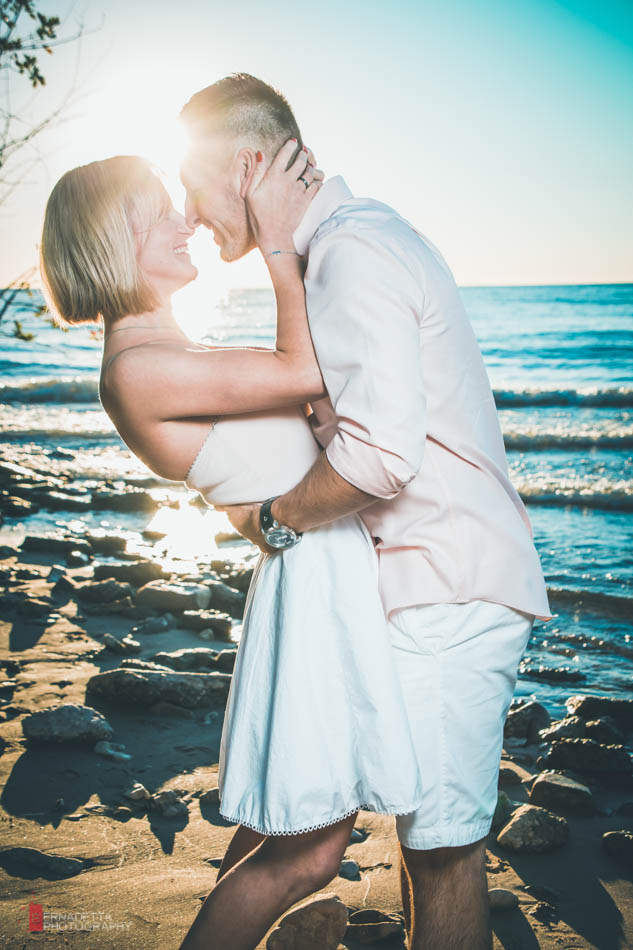 Evanston Beach Engagement Session