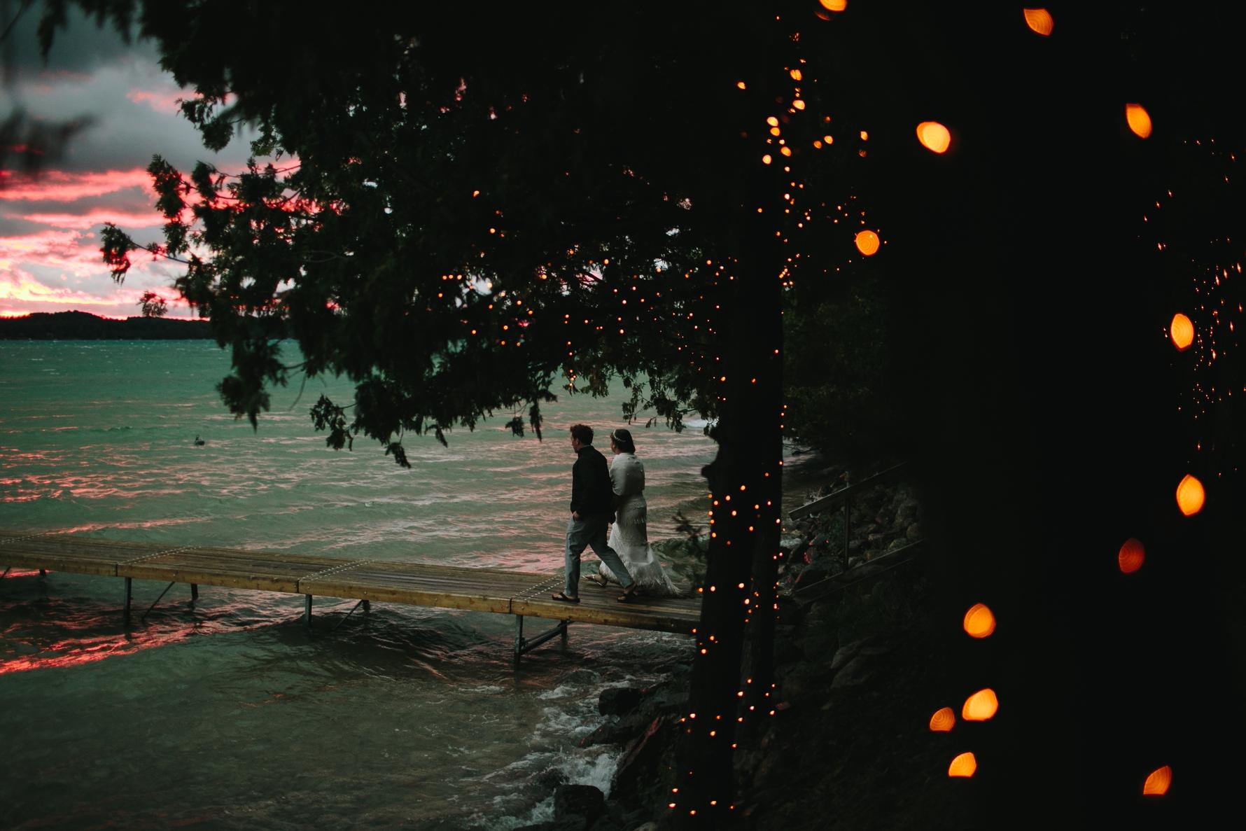 Sarah + Mike's Torch Lake Wedding