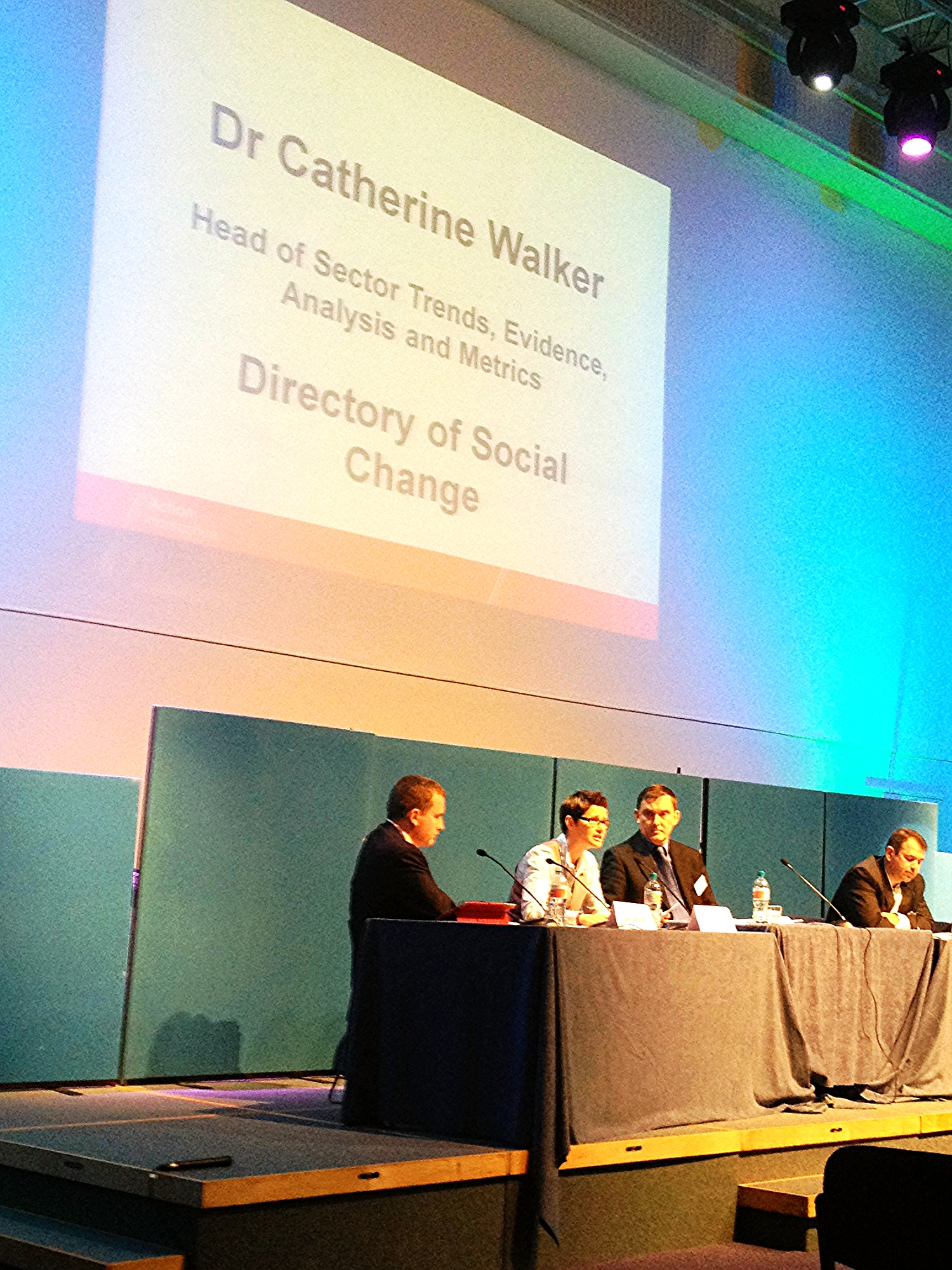 Cat speaking at Action Hampshire AGM, November 2014 about Public Service delivery by charities