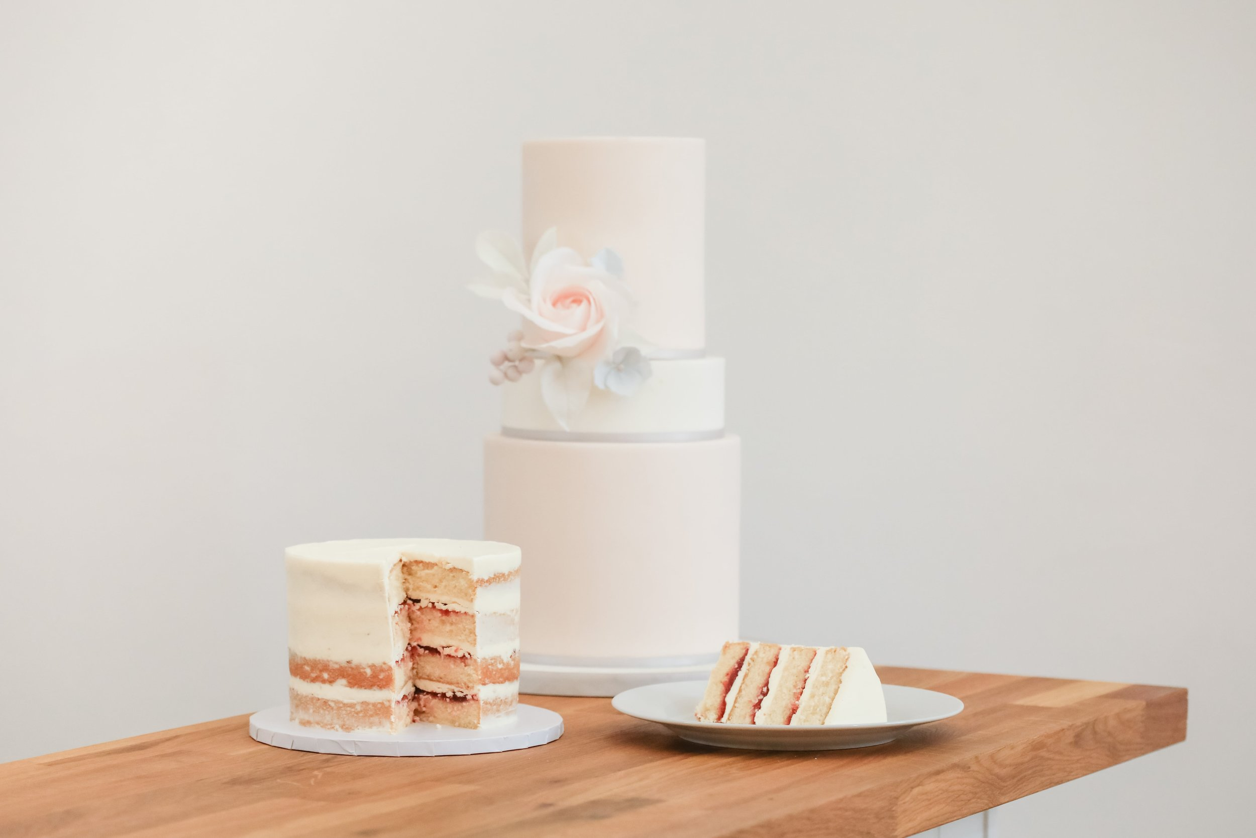Iced wedding cake or naked wedding cake? Cake by Meadowsweet Cakes, Photography by Becky Harley Photography