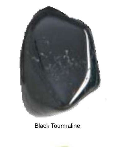 Black Tourmaline - Protection against electromagnetic energy. Draws off negative energy and clears blockage. Increase physical vitality. Disperses tension & stress.