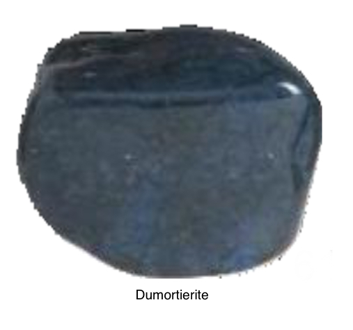 Dumortierite - This stone is very angelic in its energy. Helps one trust what one cannot see for guidance. Helps stabilize a rocky relationship. Helps one stand up for himself. Helps you stay young at heart. Excellent for promoting a positive attitude for life! Great stone for people that deal with crisis and trauma.