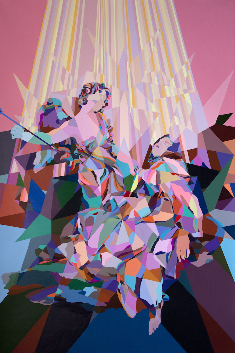 "Ecstasy of St. Theresa | 111"" x 73.5"" | Acrylic on Canvas | 2015"