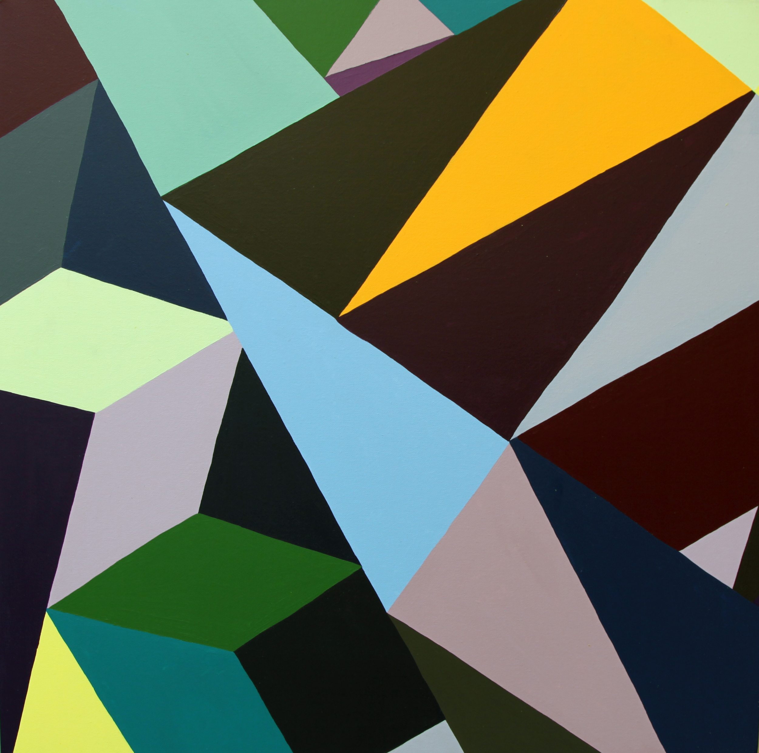 "Shift | 20"" x 20"" | Acrylic on Canvas | 2012"