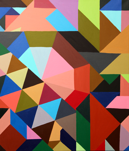 "Free Transform | 24"" x 28"" | Acrylic on Canvas | 2012"