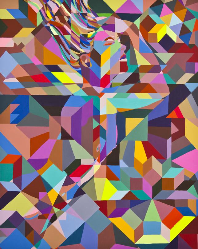 "Future Islands | 39"" x 31.5"" | Acrylic on Canvas | 2010"