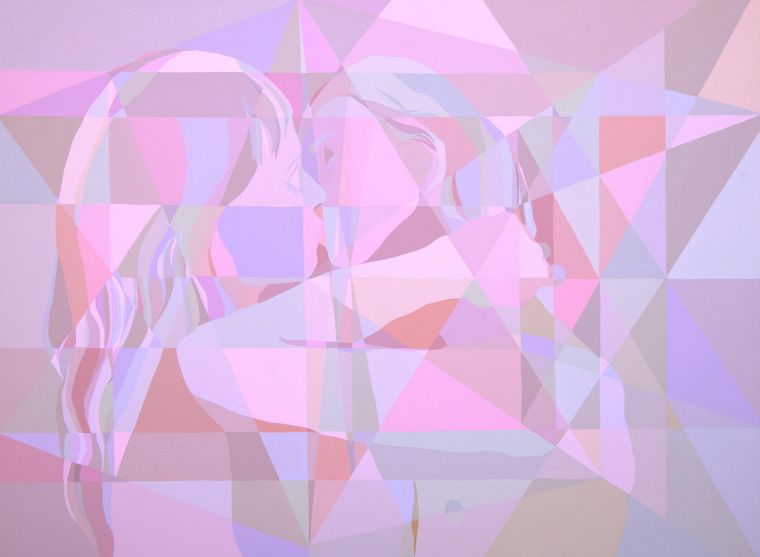 "Moves Moves (The Kiss) | 36"" x 48"" | Acrylic on Canvas | 2015"