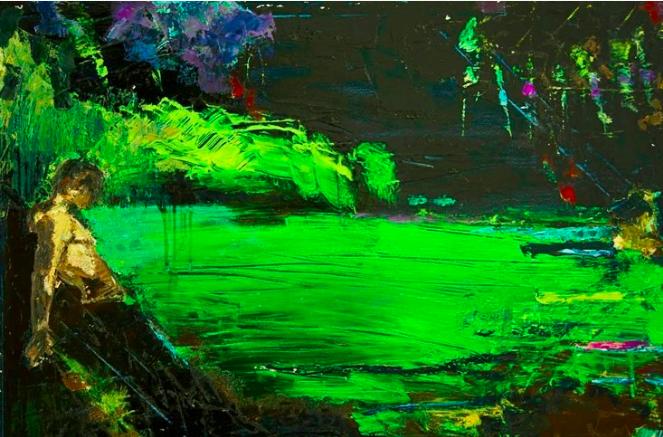 "Sabastian's Ground | 30"" x 40"" | Oil on Canvas"