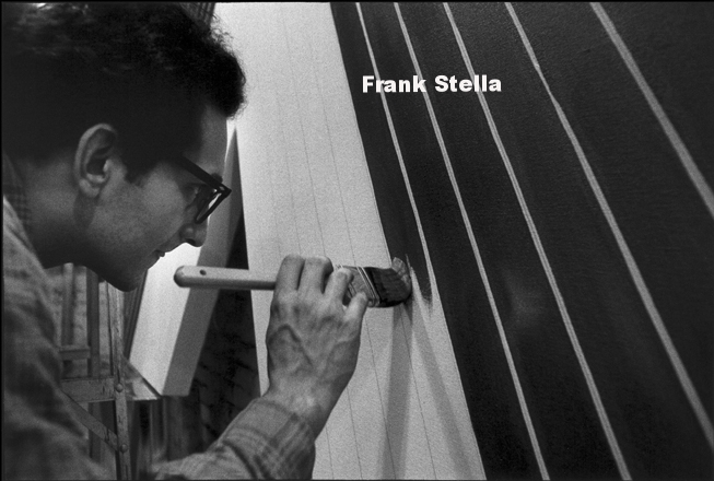 Frank Stella, 1964, photo by Ugo Mulas