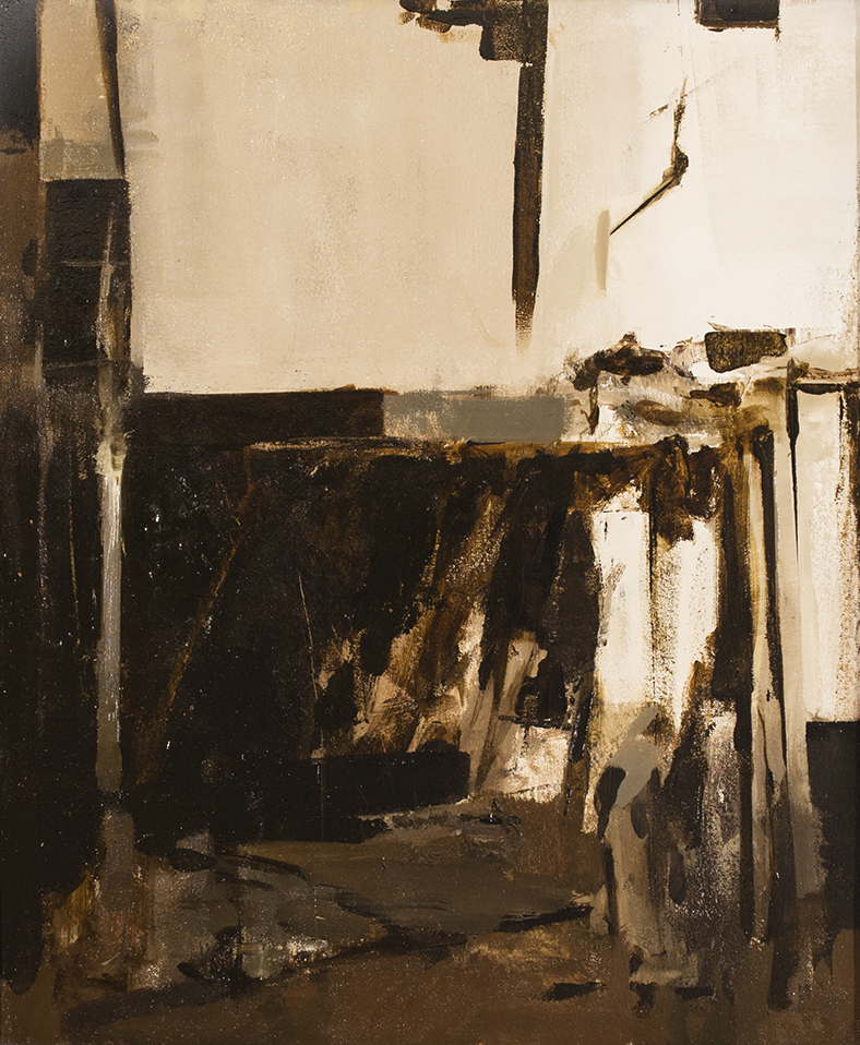 "Hollowed Interior, 2015 | 24"" x 20"" | Oil on canvas"