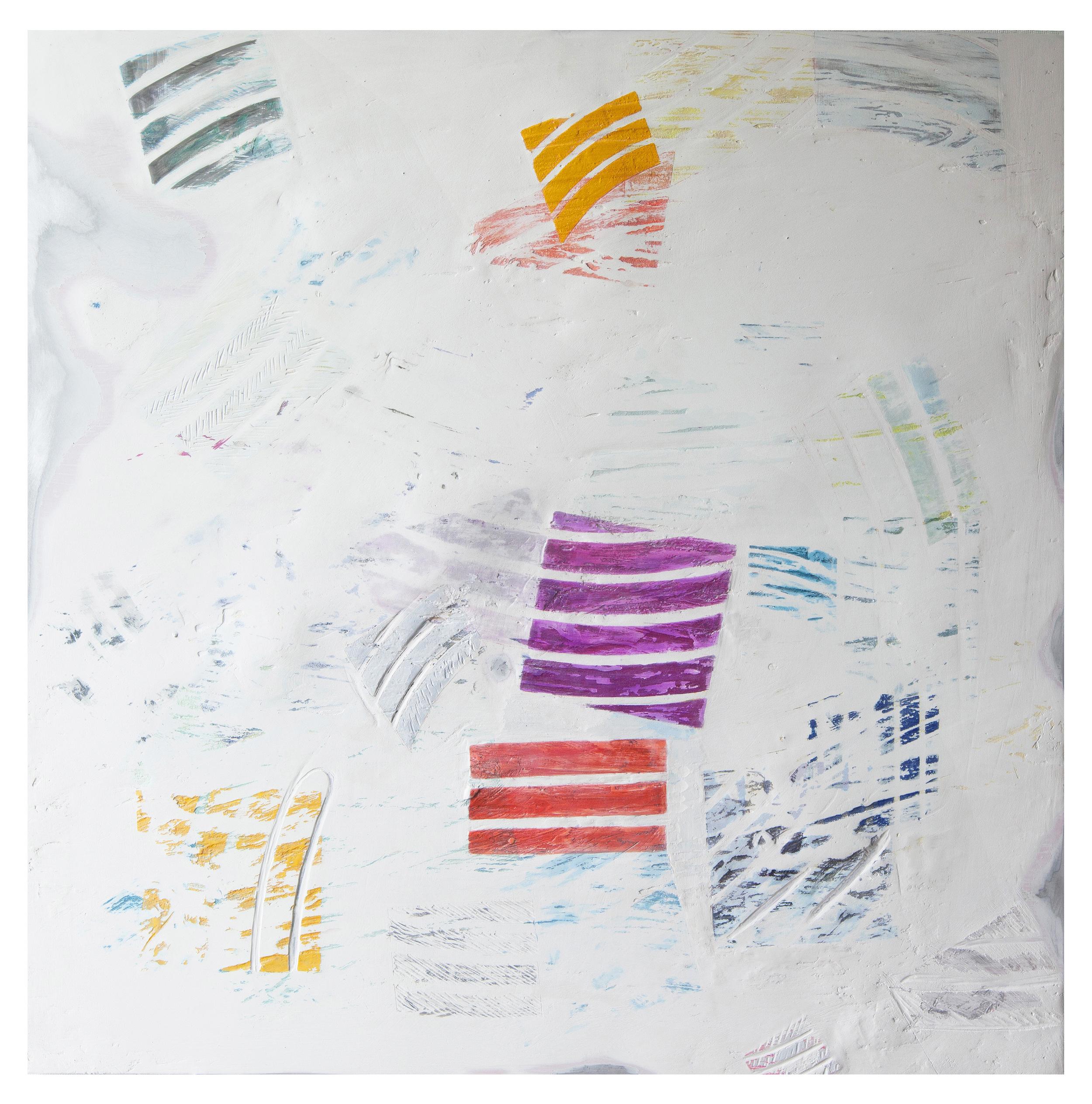 "Matter (of Transformation) , 2016 |Plaster, enamel, dye, & oxides on aluminum |36""x 36"""