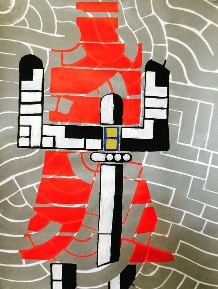 MOOSH,  Samurai , 2017, Acrylic on paper, 20 x 16 in