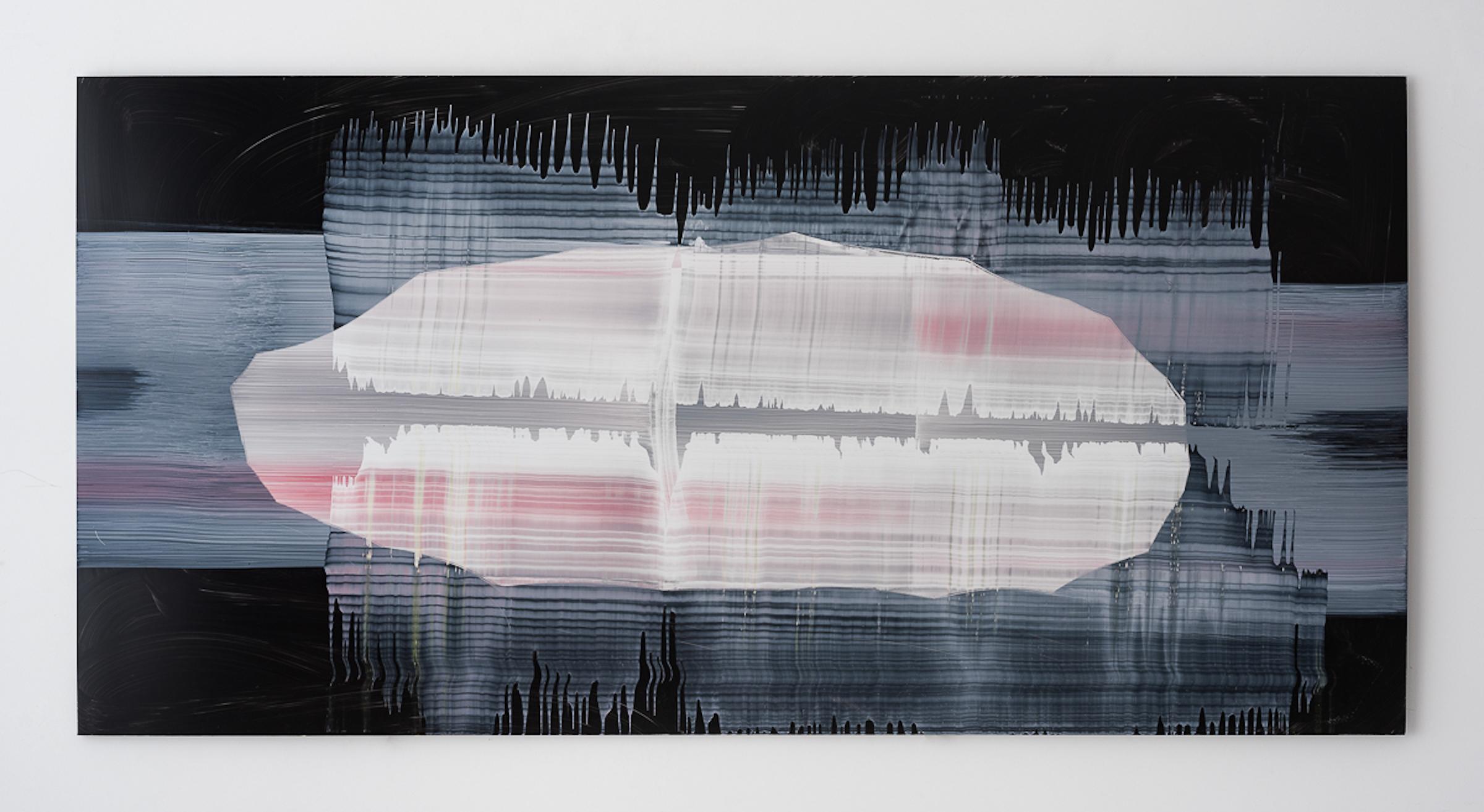 Miriam Cabessa,  Untitled 16 , 2017, Oil on aluminum, 29.5 × 59 in
