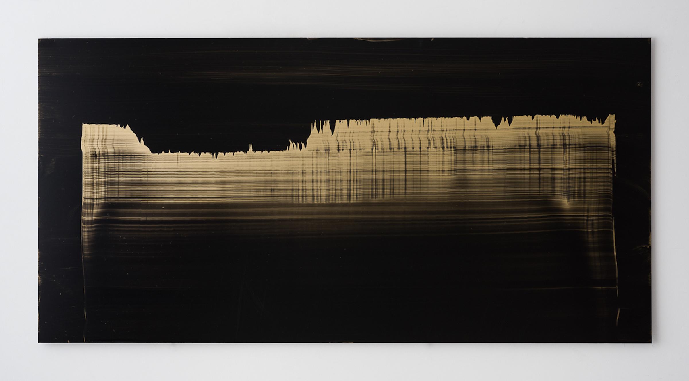 Miriam Cabessa,  Untitled 21 , 2017, Oil on aluminum, 29.5 × 59 in