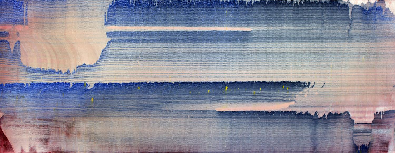 Miriam Cabessa,  Untitled 24 , 2014 Oil on canvas, 12 x 30 in