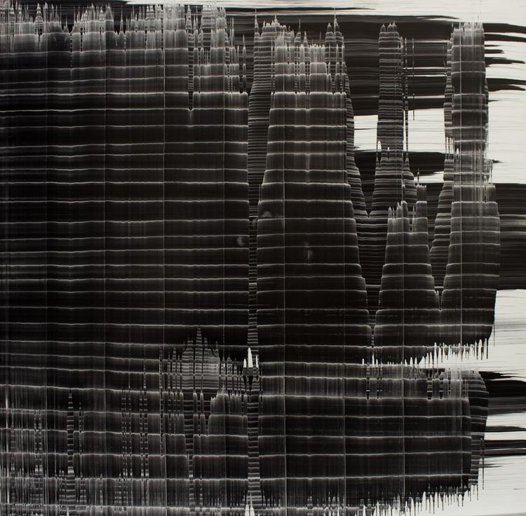 Miriam Cabessa,  Untitled 1 , Oil on masonite, 48 x 48 in
