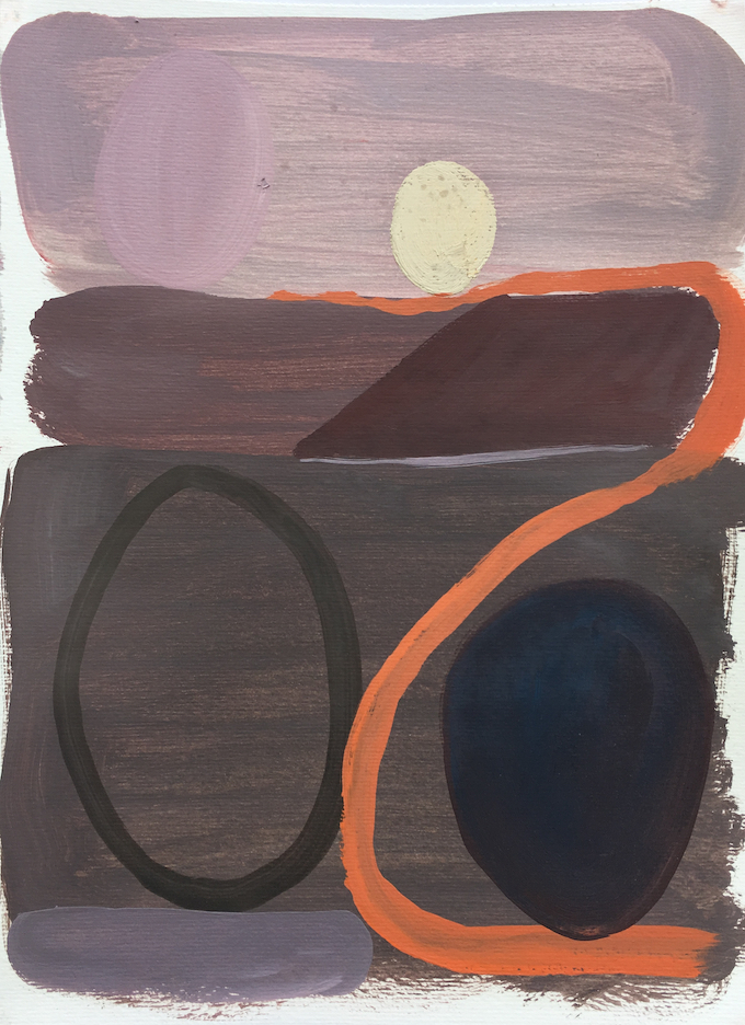 Carey Maxon,  Stradarancio , 2019, oil on paper, 12.75 x 17 inches