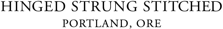 hinged strung stitched Portland Ore logo