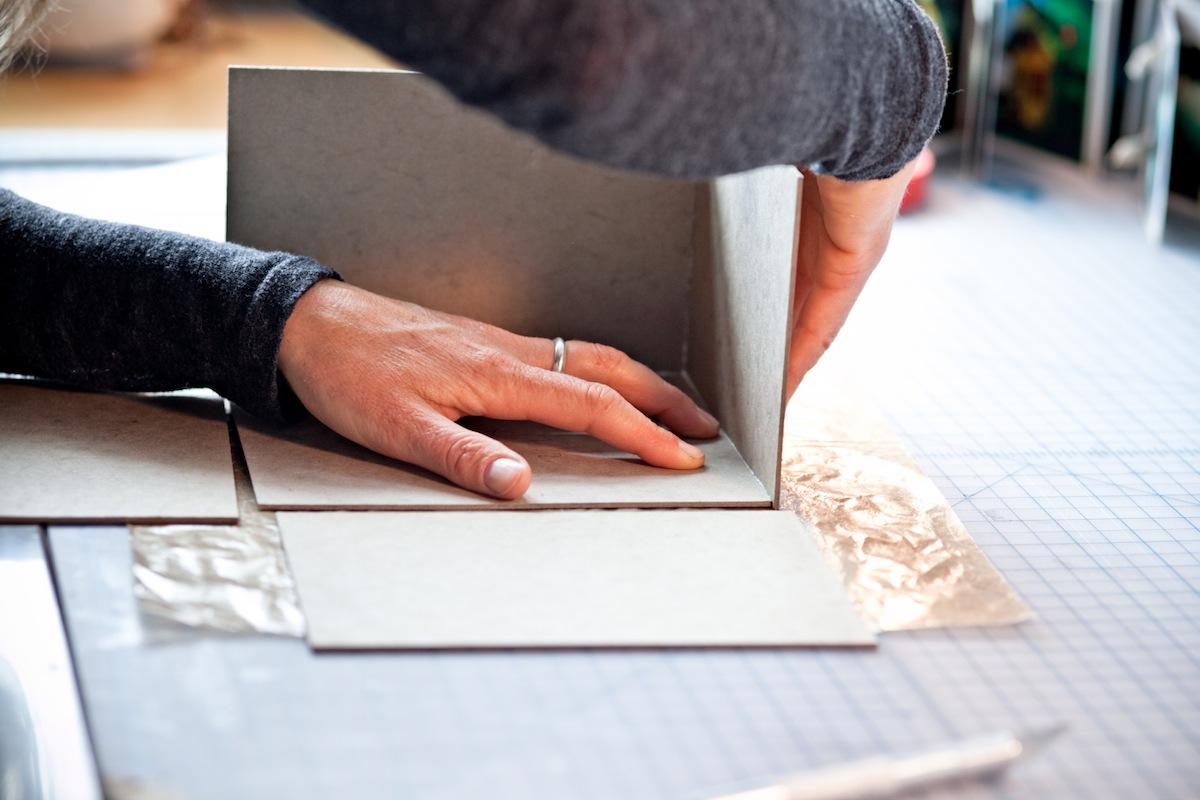 Bookbinder at Work
