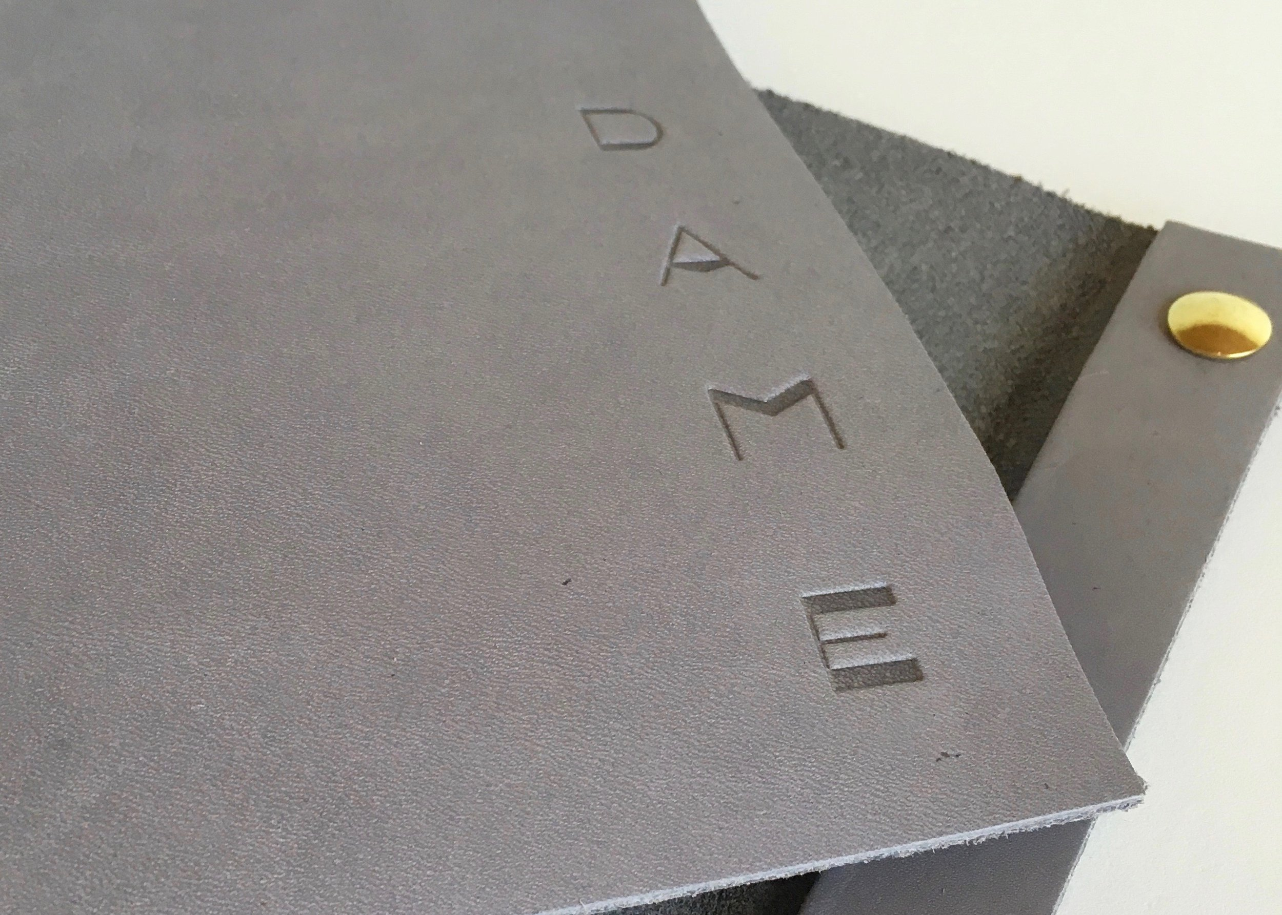 Blind Deboss on Leather