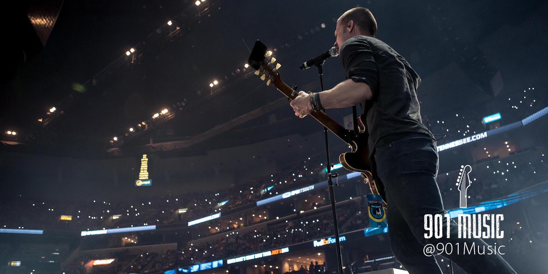About a Mile lead-singer, Adam Klute .   WinterJam Memphis 2015.    Photo: @TimGSimpson