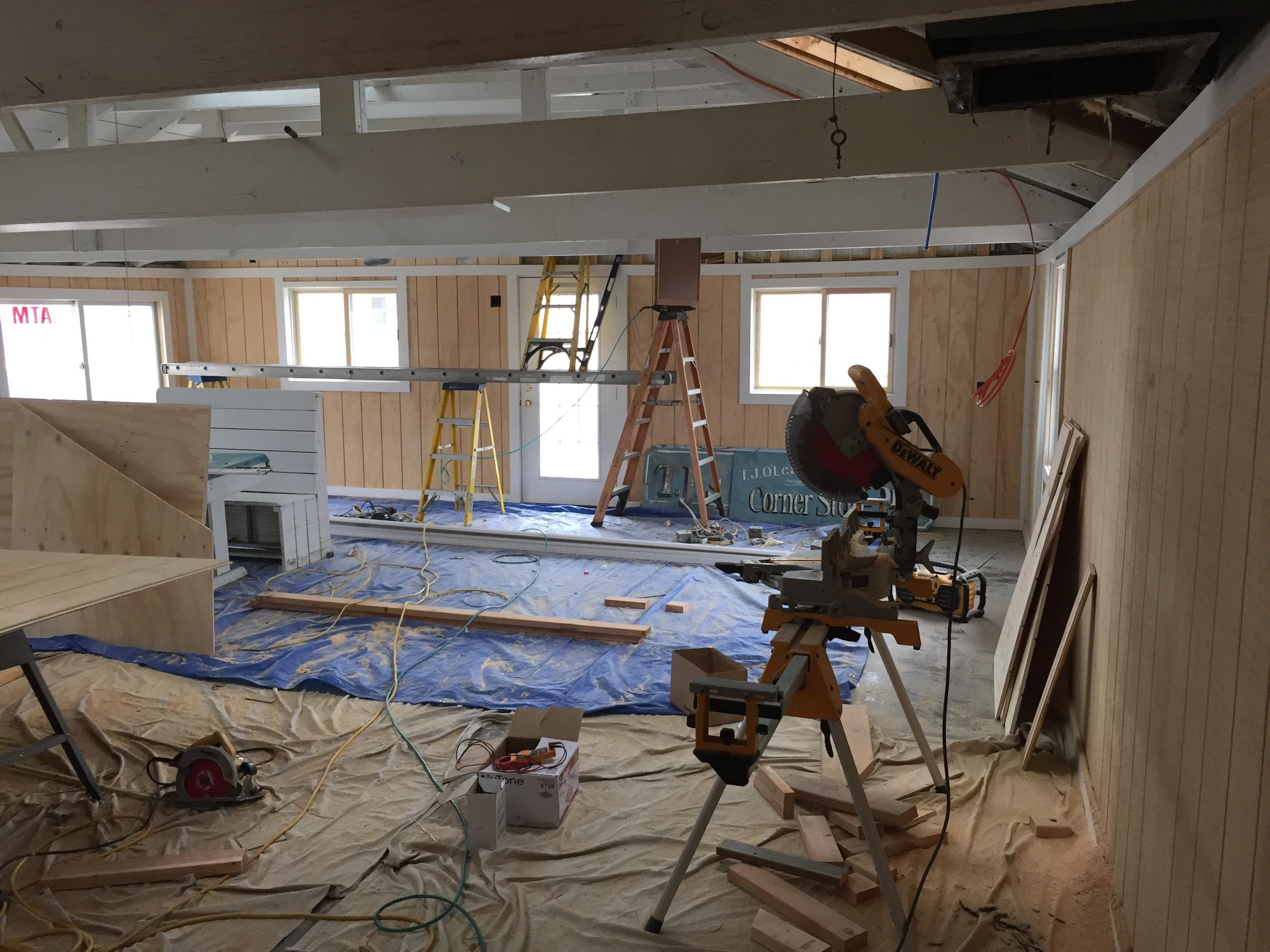 Interior construction in progress
