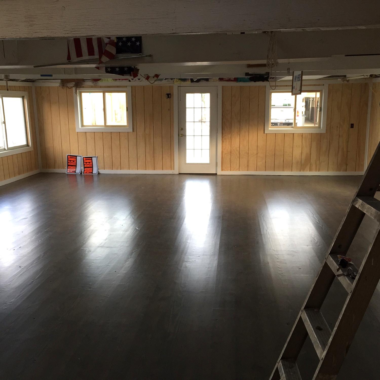 Interior before construction begins