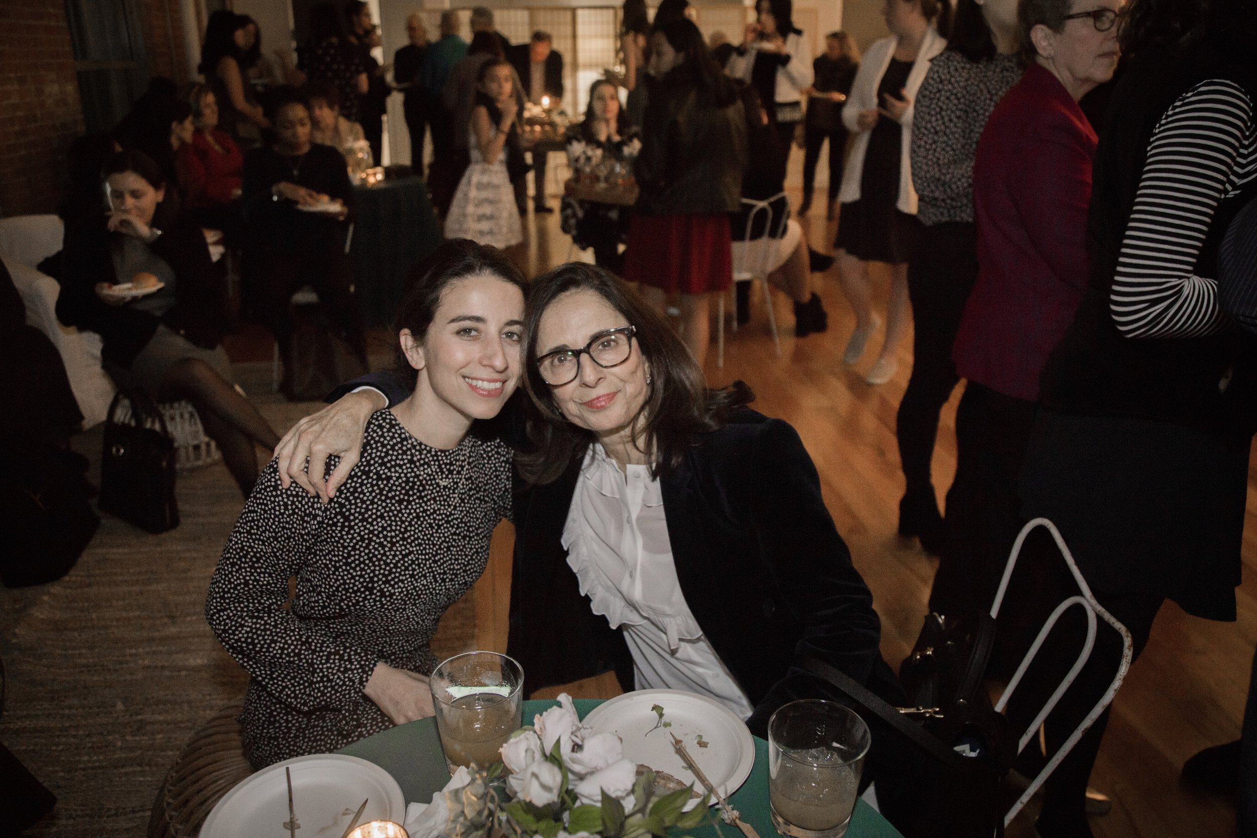 The evening honored women, such as Meika Hollander of  Sustain  (pictured here with her mom) who were exemplifying women's leadership and empowerment.
