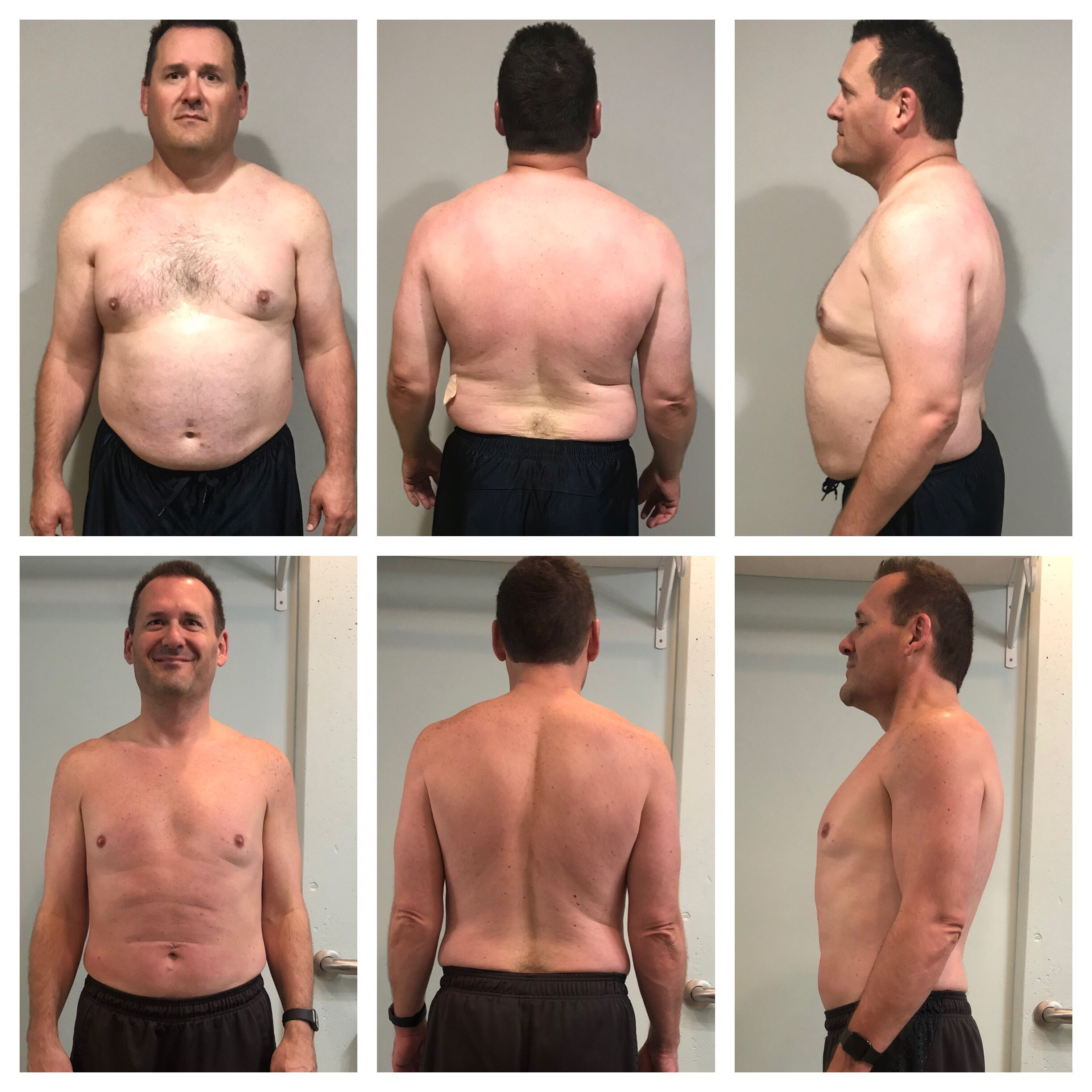 Mike has lost 58 lbs in 6 months.
