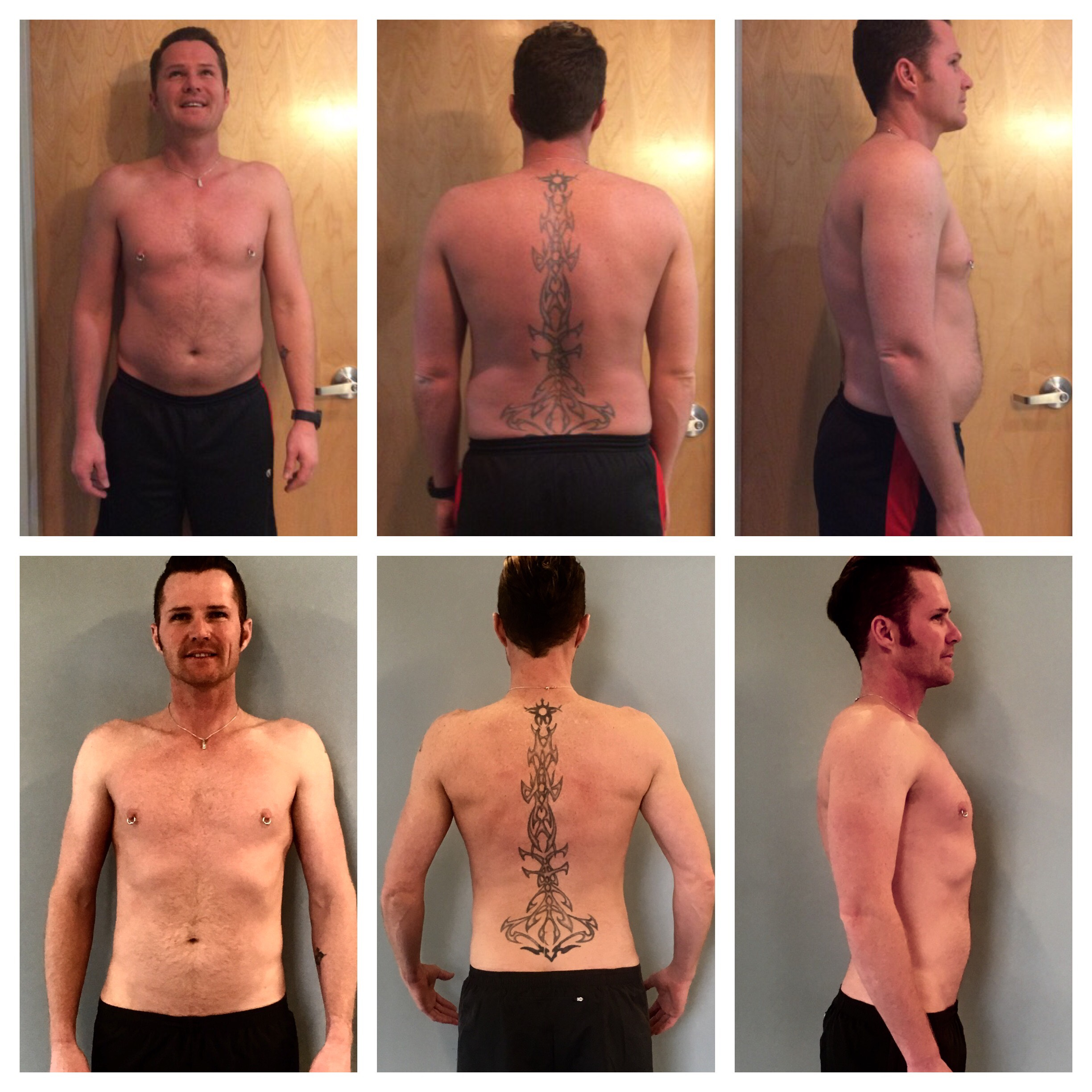 Michael lost 40 lbs in 8 months.
