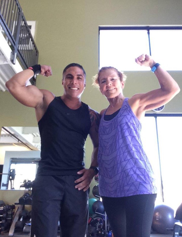 At her 70 years, Betsy can deadlift more than her body weight!