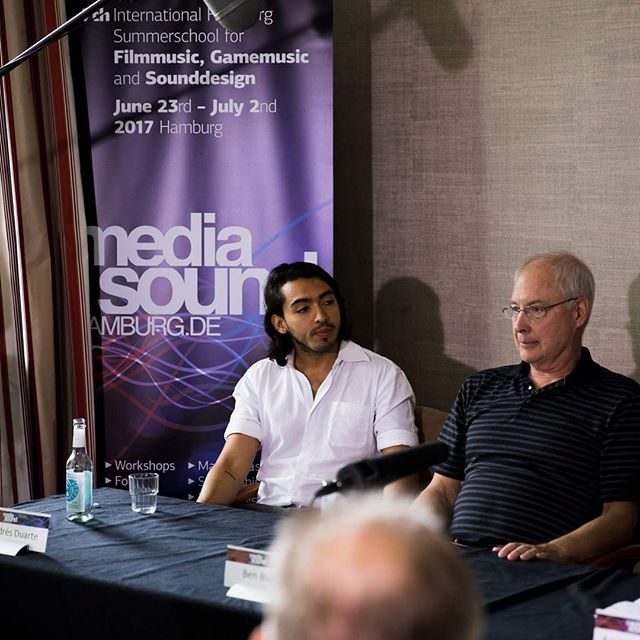 #tbt to that time I spoke next to the legend and awesome human being Ben Burtt (he did the sounds for Star Wars movies!) in a press conference in Hamburg during Media Sound Hamburg. @skywalkersound  Pics 1 and 3 belong to MSH. - - - #optimussound #sound #optimus #movies #film #benburtt #sounddesign #press #conference #nice #proud #hamburg