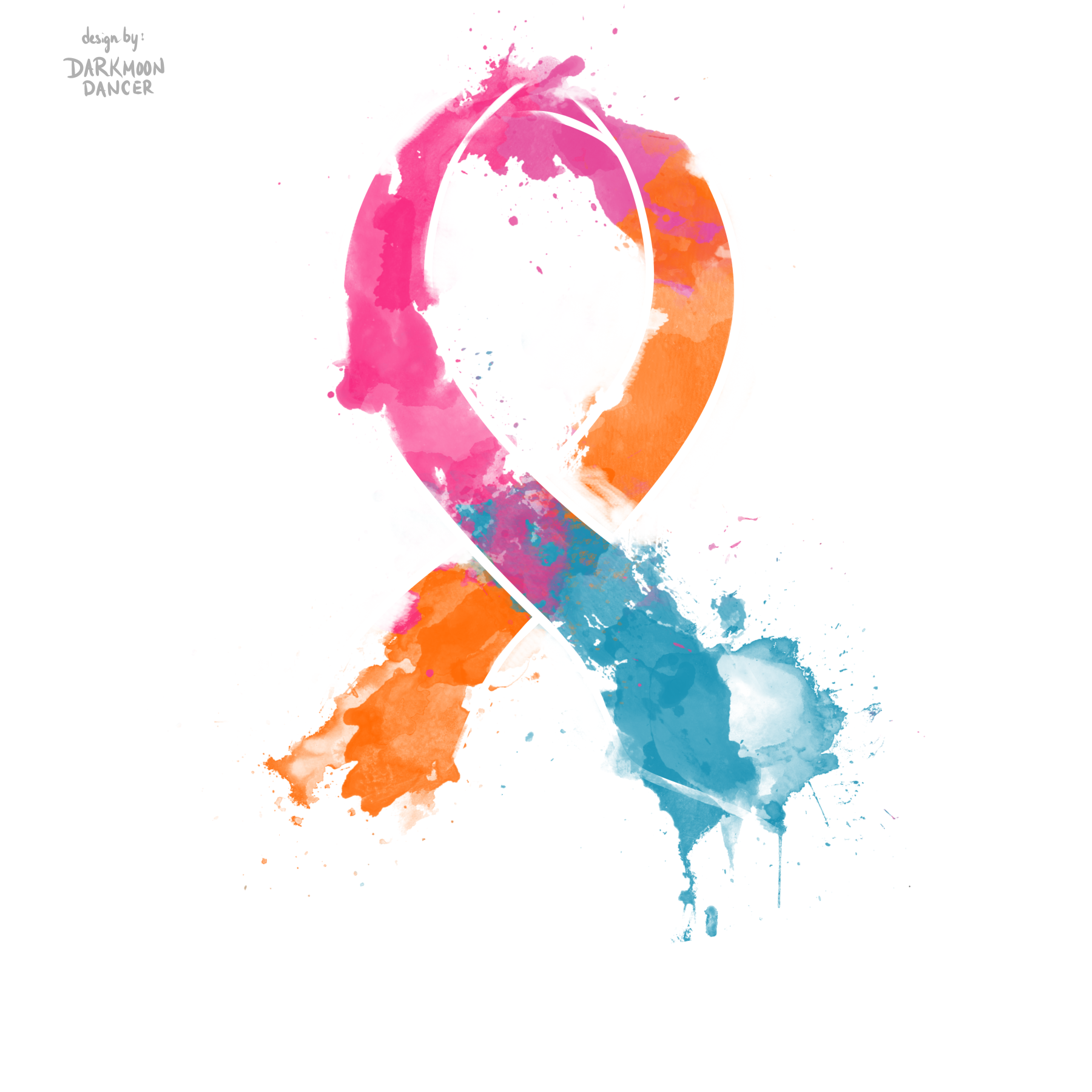 BluePinkOrange CancerRibbon 3.png