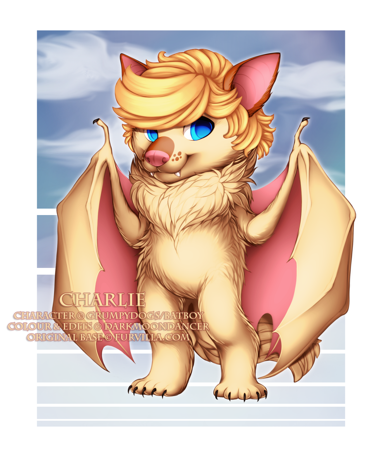 This is Charlie (c) GrumpyDogs/Batboy, and the edits I completed on him include custom tail, fangs and his hair!