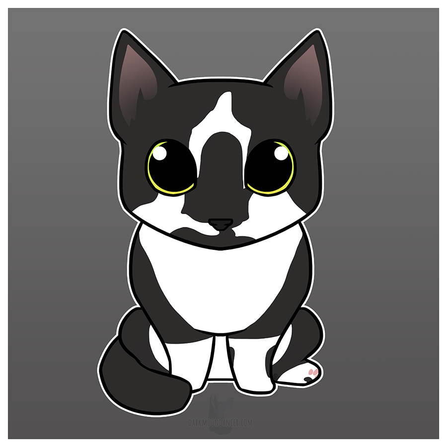 Conrad the Cat as a Chibi