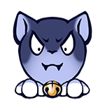 Transformed Badge Sample (expression): Evil Cat