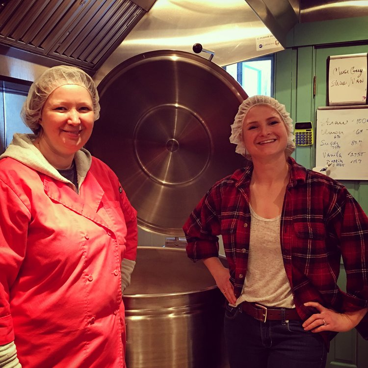Vicky (left) - founder of Blake hill preserves Jess (right) - Founder of Scrumptious secrets, llc