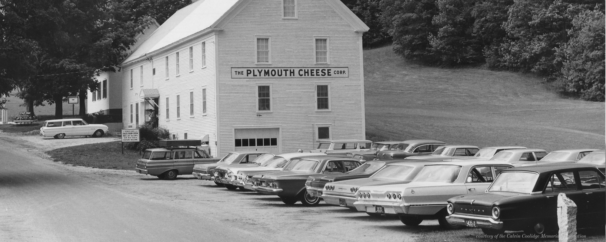 Historical picture of the plymouth cheese corp, photo credit to plymouth artisan cheese
