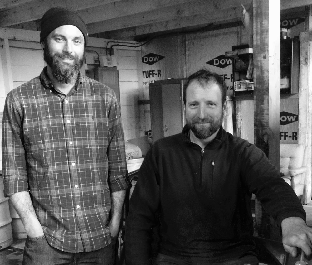 David Fay (Left) and James Spanier (right) in the sugar house - jeffersonville, Vermont