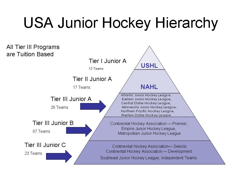 Junior Hockey Hierarchy