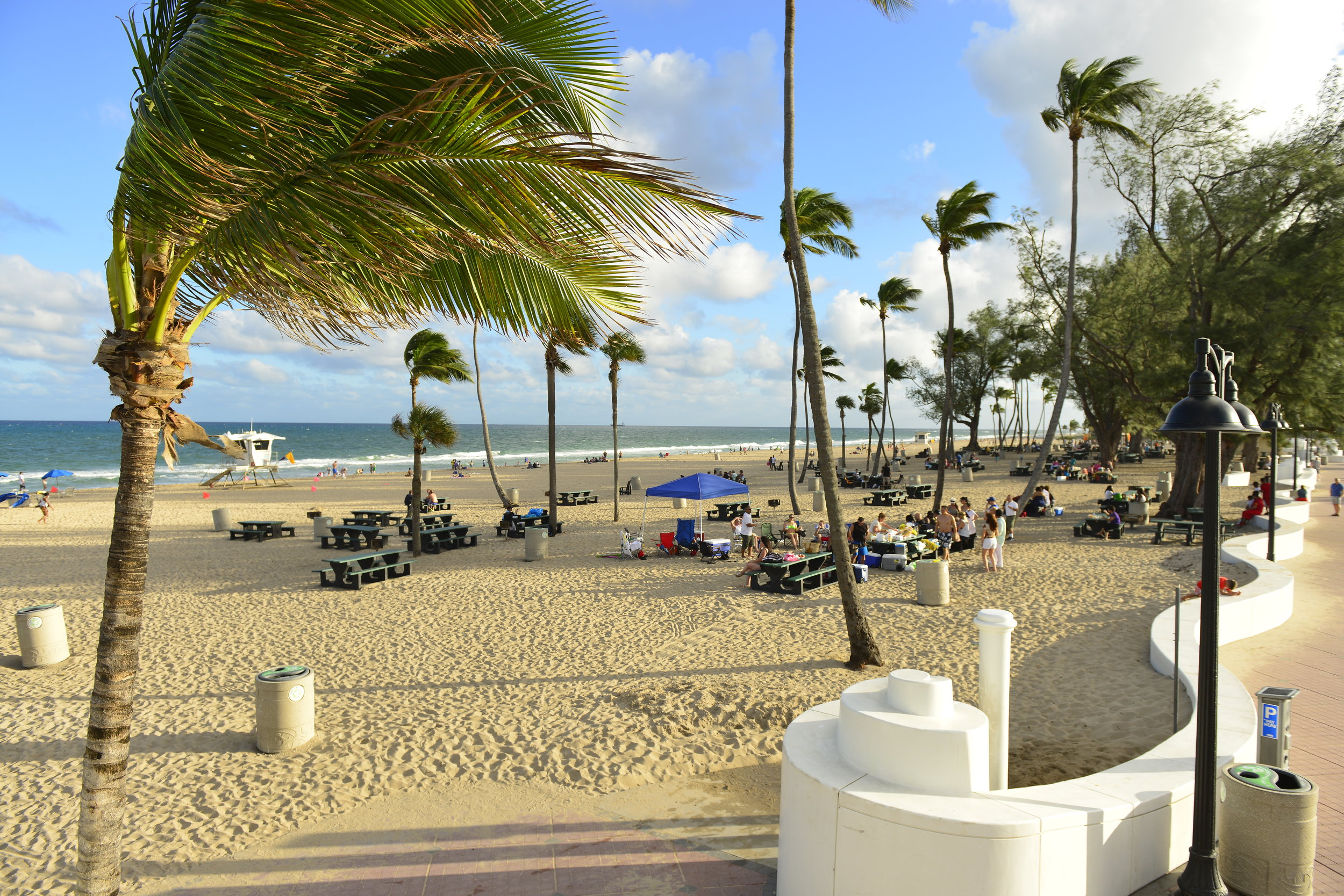 my escape from it all - fresh air. this is about 1.5 miles south of me on fort lauderdale beach.