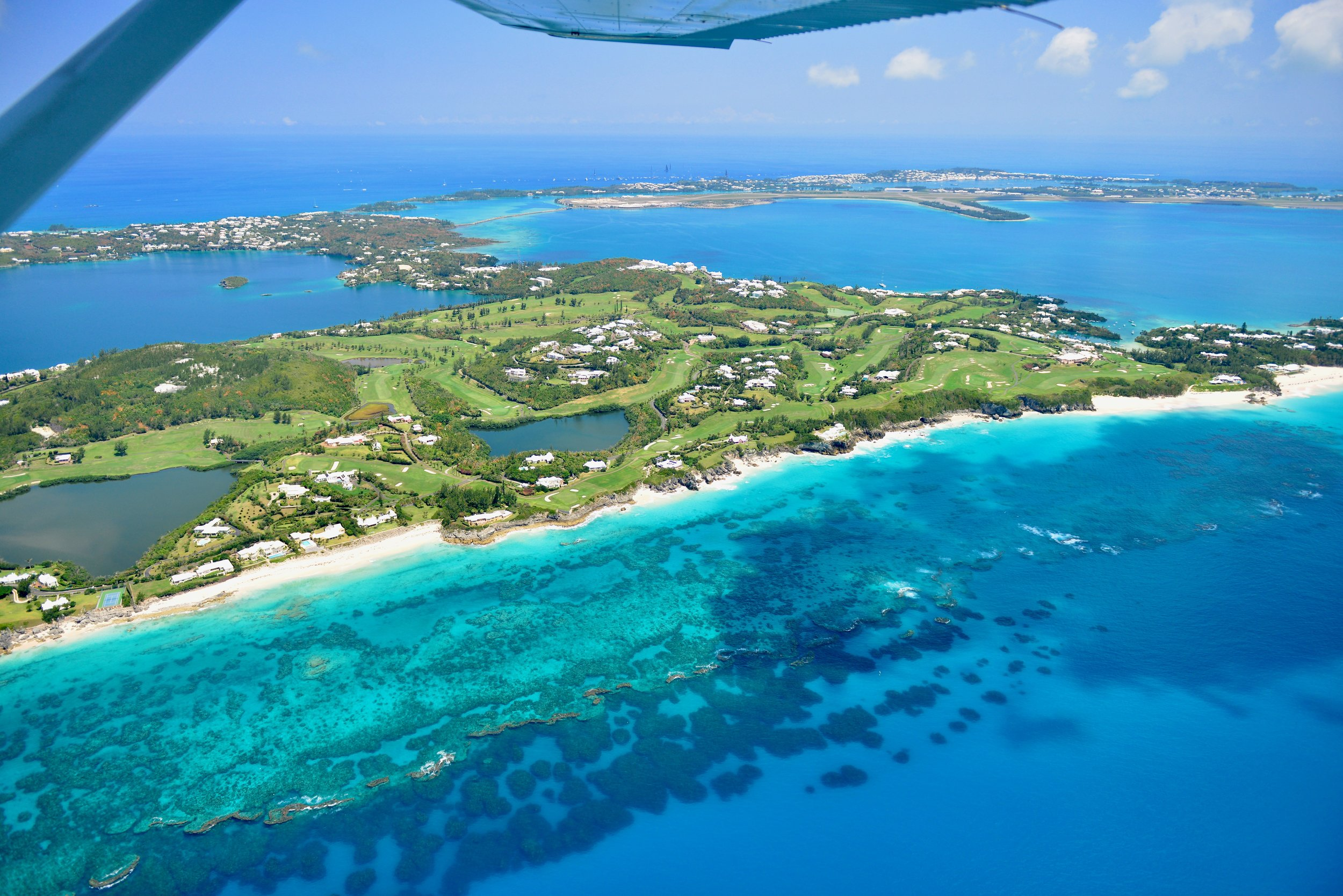 Must Do In Bermuda - Dana Chirps - All of that green area is the golf course at tuckers point