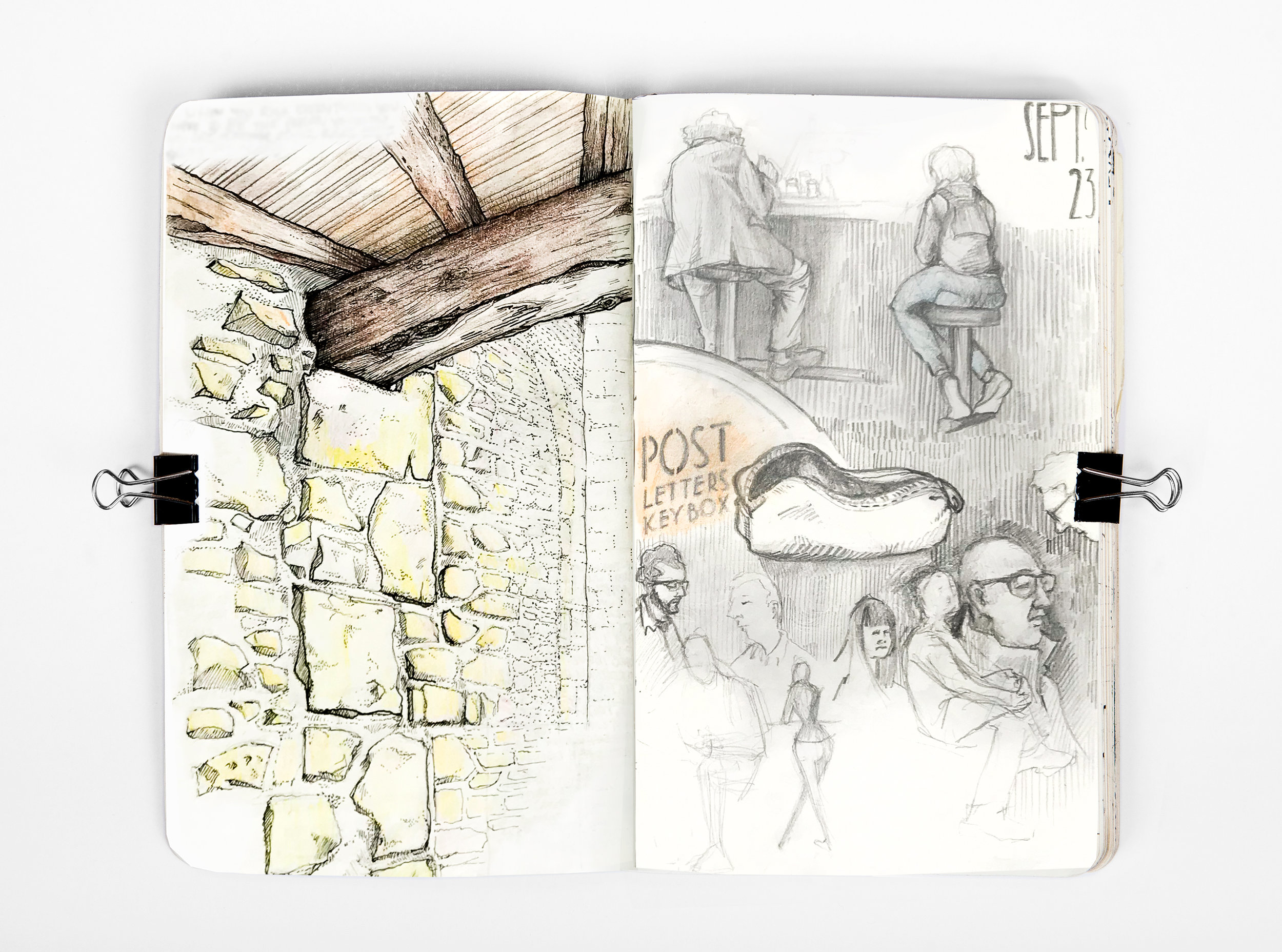Sketchbook   Note-taking, doodle-making, trip-recording.